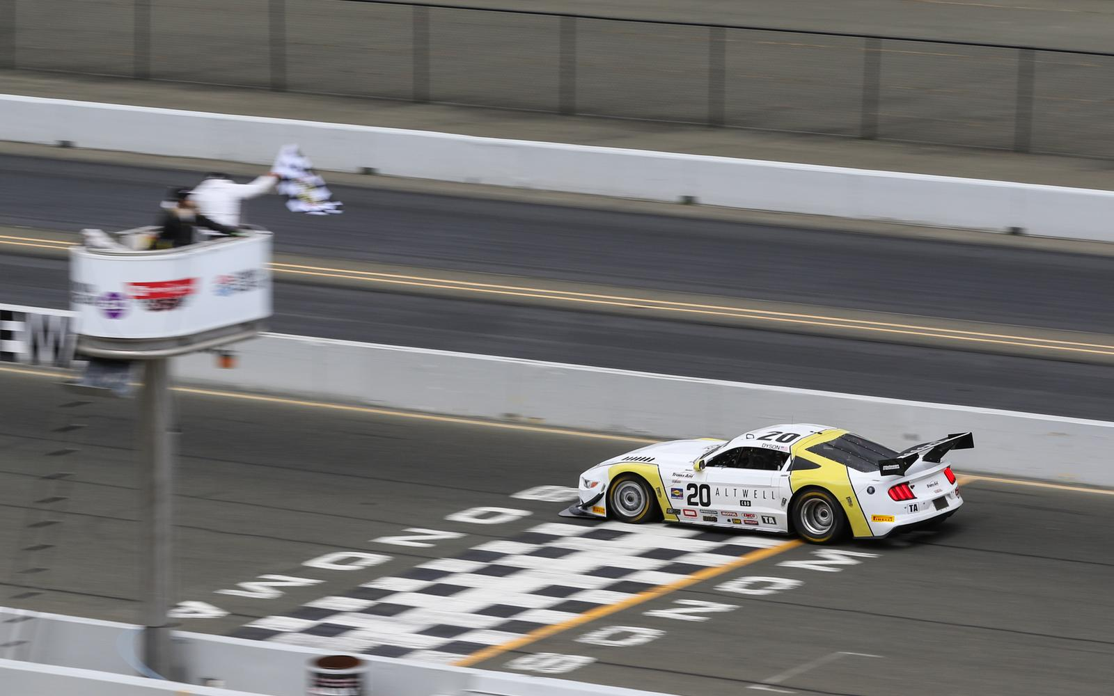 Dyson Stuns During Trans Am Race in Unpredictable Weather at Sonoma Raceway