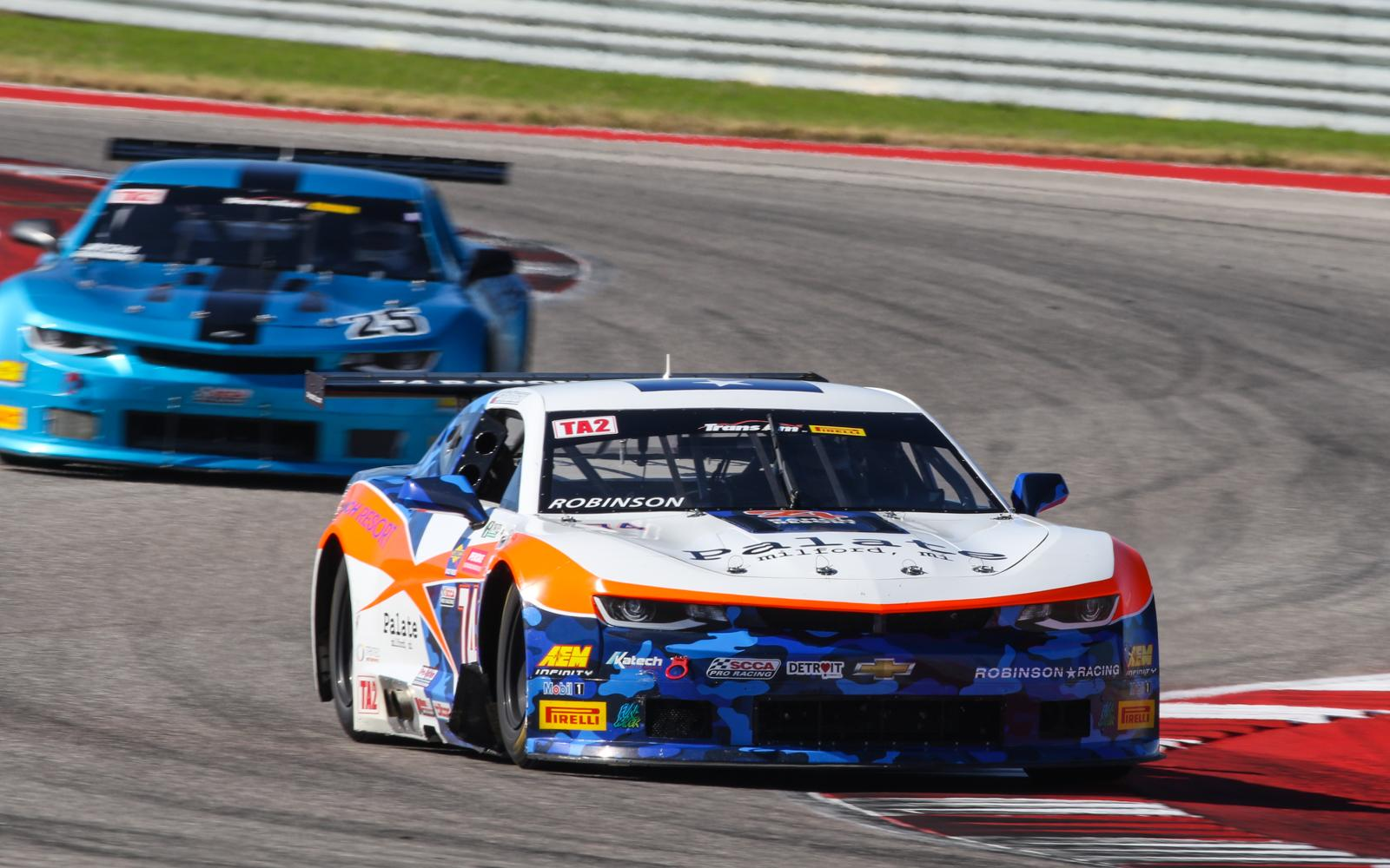 Robinson Overtakes Goikhberg at Finish Line for COTA TA2 Victory