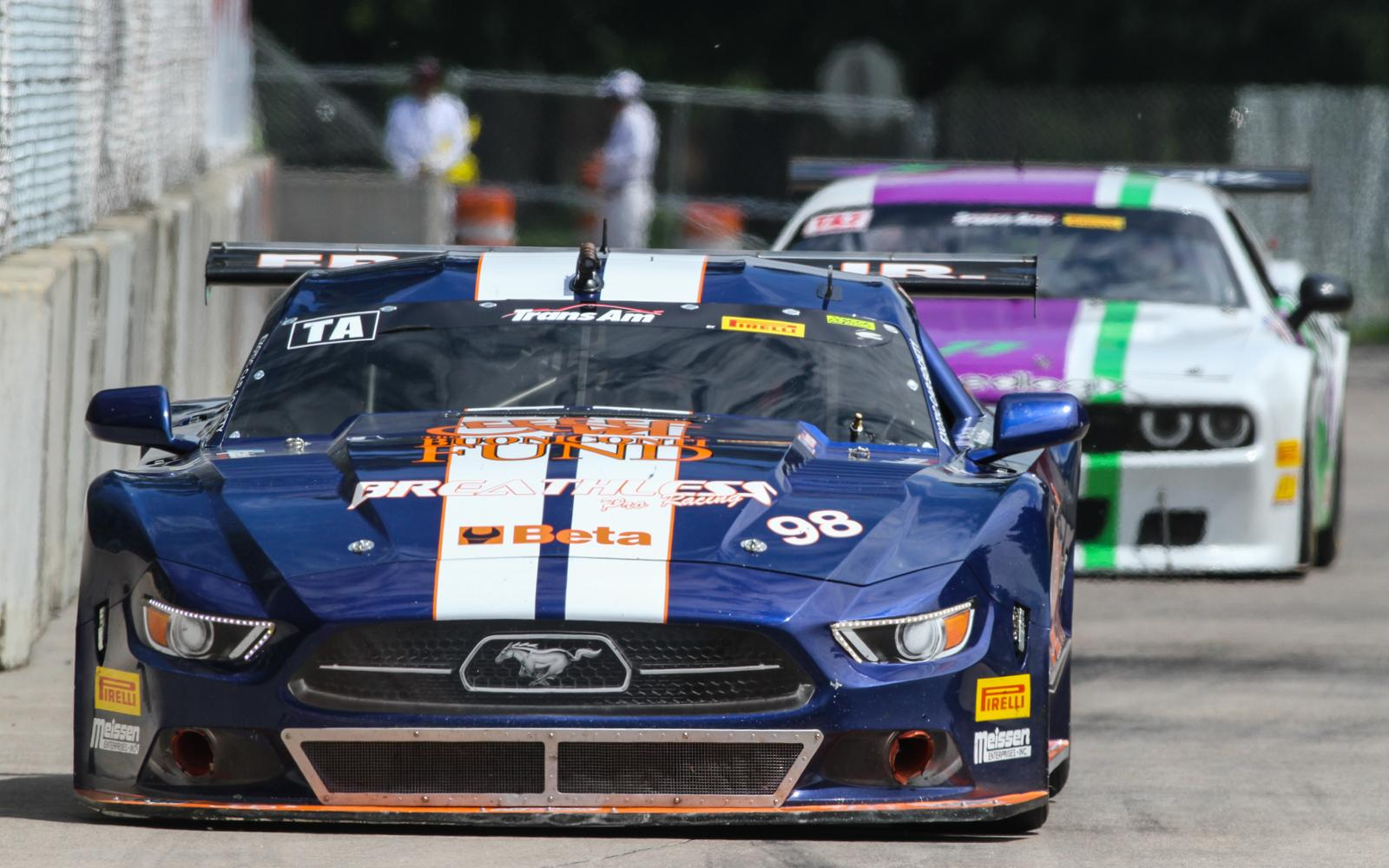 Ernie Francis, Jr., and Gar Robinson secure Trans Am poles in Detroit