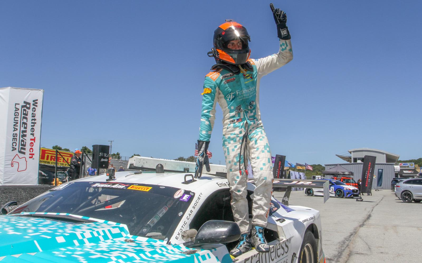 Francis Jr. Takes the Checkered at Laguna