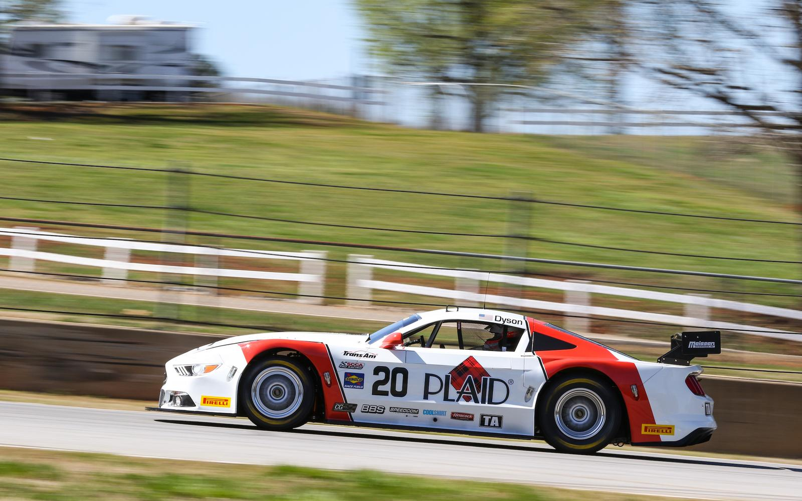 Dyson Drives Plaid Mustang to Hard-Fought Road Atlanta Win