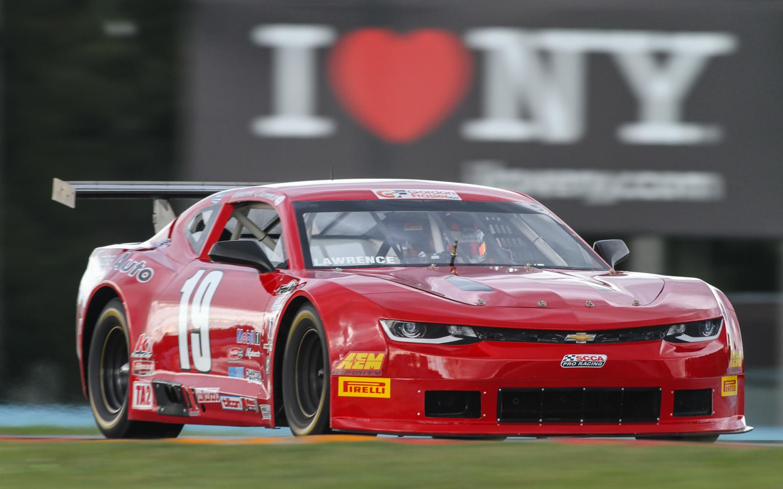 Cameron Lawrence leads TA2 in wet practice to open Watkins Glen weekend
