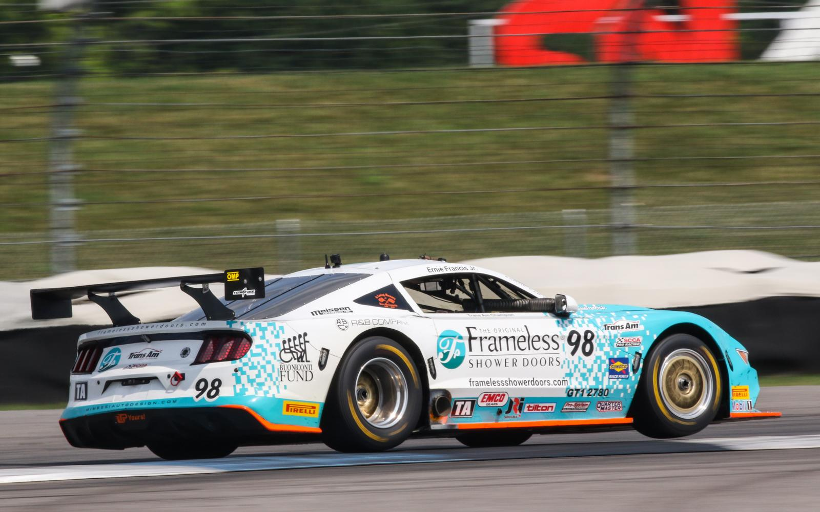 Ernie Francis, Jr., Drives to the Front for Trans Am Indy Win