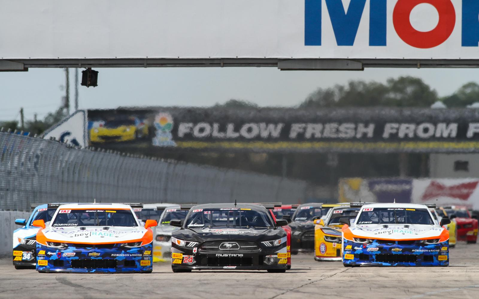 Dillon Machavern takes flag-to-flag TA2 victory in Sebring opener