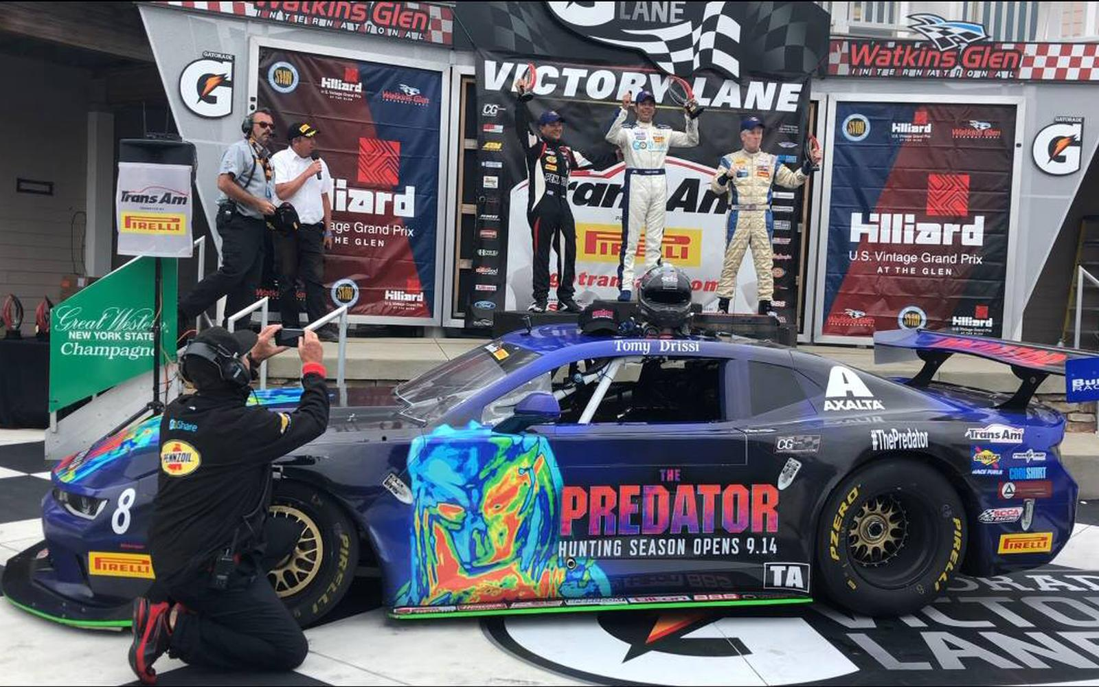 The Predator Completes The Hunt at Watkins Glen…. Drissi Takes Top Step of TransAm Podium