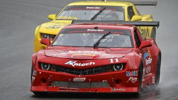 Lawrence Shines in the Rain at Lime Rock