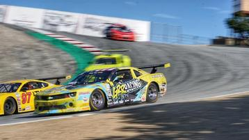 Abbate Conquers Engine Issue and Races to the Checkered Flag